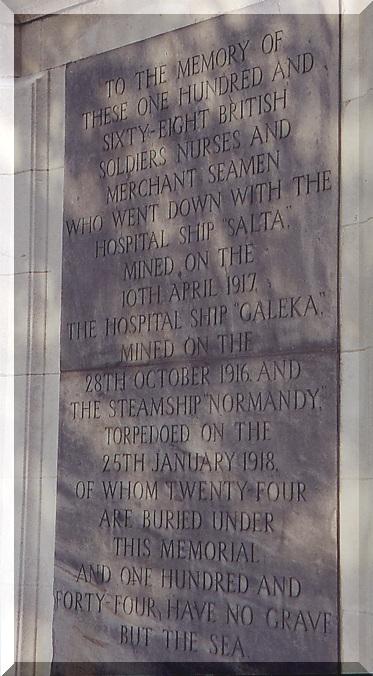 Plaque commémorative du naufrage du Galeka