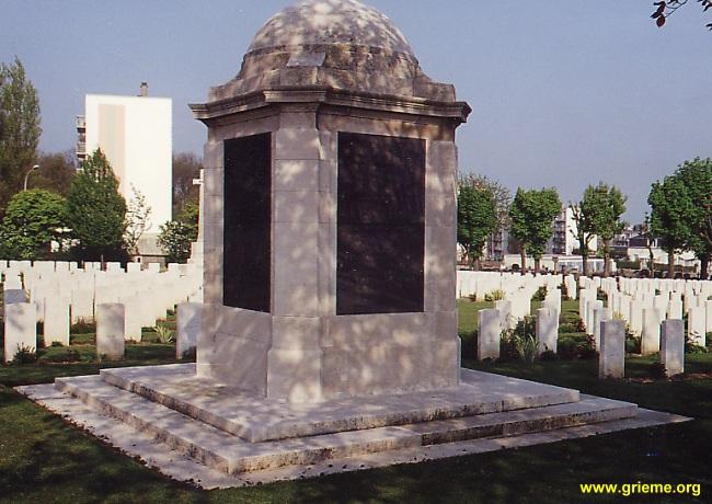 Stèle commémorative au Havre