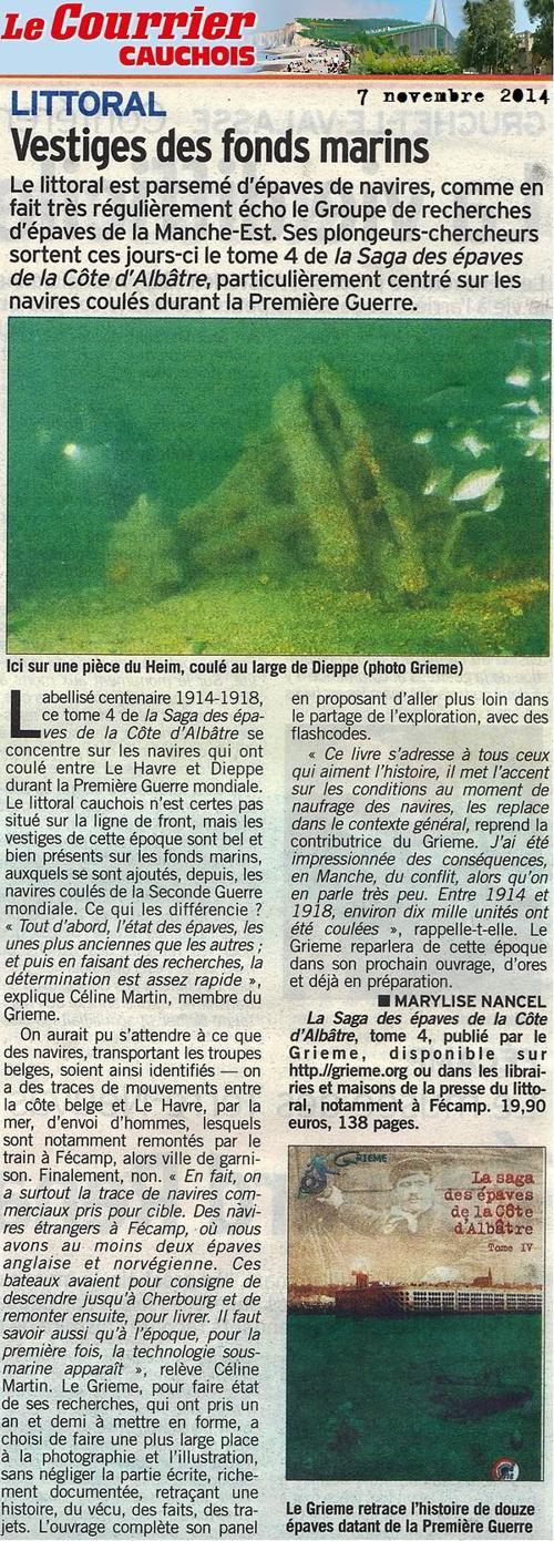Article T4 courrier cauchois